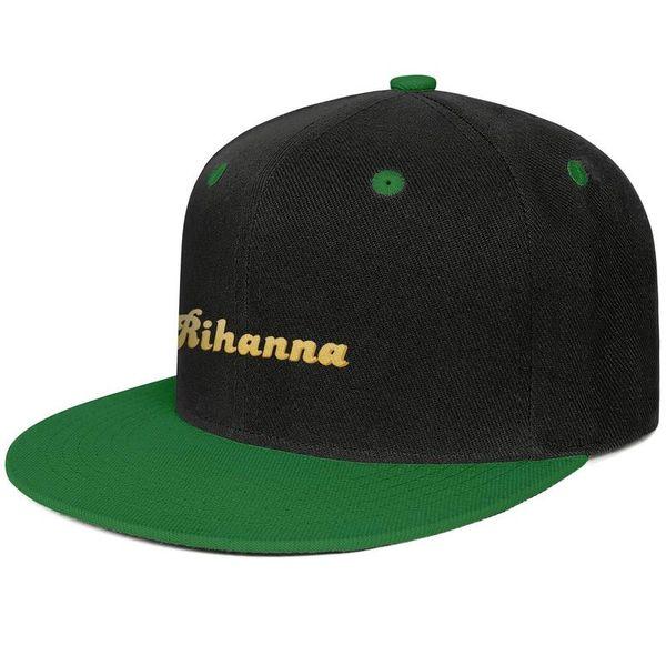 Rihanna logo Design Hip-Hop Caps Snapback Flatbrim Trucker Hat Sun Protection Adjustable