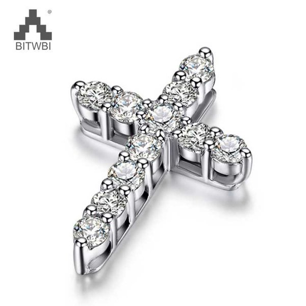 925 Sterling Silver Necklace Zircon Romantic Cross Cruise Pendant For Women Girl Female Jewelry Wedding Gift