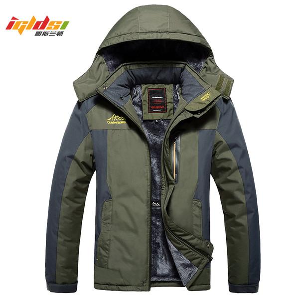 Winter Military Jackets Men Fleece Coats Windproof Waterproof Windbreaker Outwear Down Parka Army Raincoat Plus Size 7XL 8XL 9XLMX190904