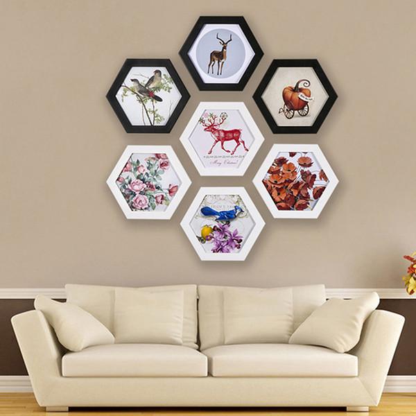 Bilderrahmen Hexagon Bilderrahmen Wand Hochzeit Familie Bildanzeige Vintage Bilderrahmen Halter Wohnkultur