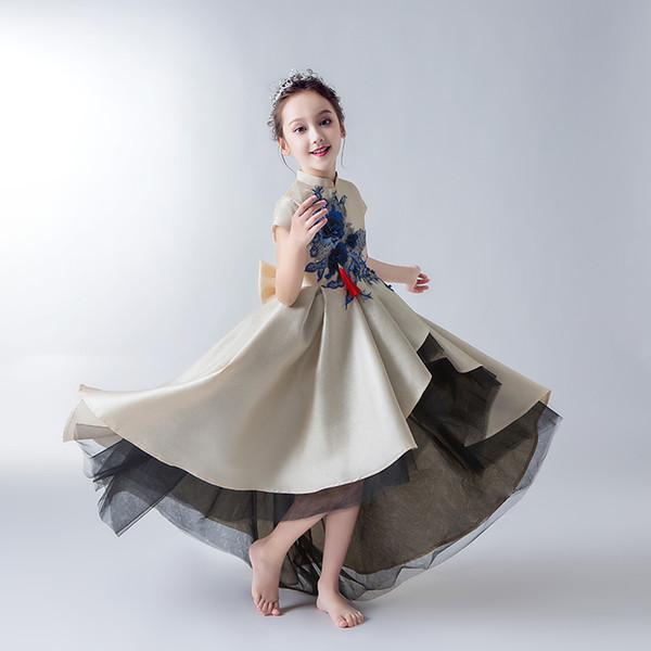 Ragazza Modello Show Abiti Per bambini Abiti da sera Flower Flower Princess Skirt Peng Shan Abiti per spettacoli pianoforte