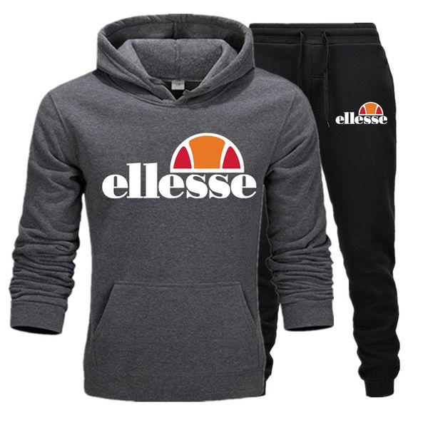 Liebhaber Casual Hoodies Hosen Anzug Baumwolle Material Sweatshirts Ellesse Pullover Warm halten Hoodie italienische Marke Advanced Sportswear-Sets