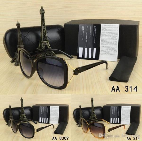 Estate uomini liberi di trasporto donne occhiali da sole con scatola originale grande occhiali telaio rotondo oro logo in metallo classico vintage kaka occhiali regali