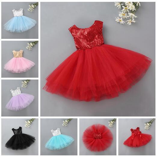651c442ac 5 Layers Baby Girls TuTu Dress Princess Kids Baby Fancy Wedding Dress  Sleeveles Sequins Backless Party