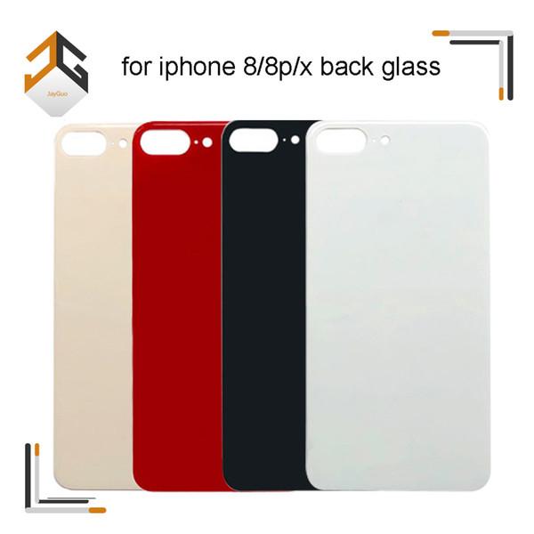 100PCS OEM Zurück Rear-Batterie-Tür-Glasgehäuse-Panel-Abdeckung mit Kleber für iPhone 8 8 Plus X DHL geben