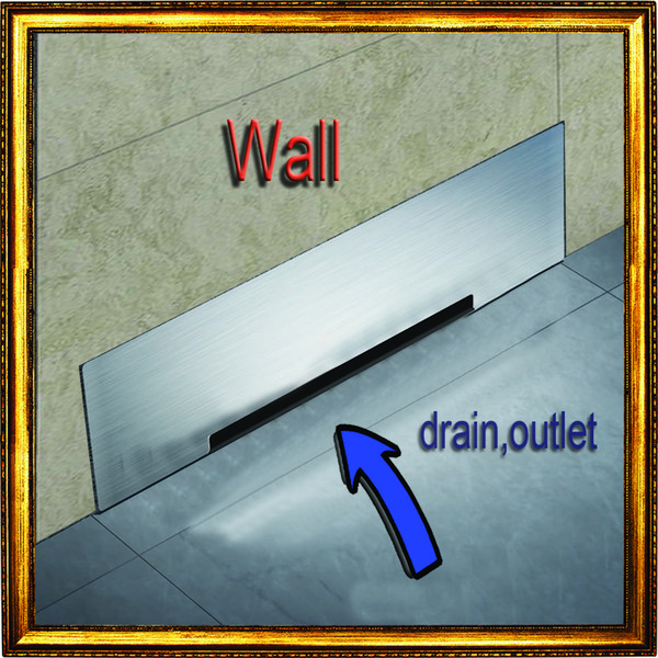 best selling Wall Drainage Large-Traffic Stainless Steel 30cm Bathroom Accessories Shower Floor Waste Drain Big Flow Rate Refuse Nasty Smell