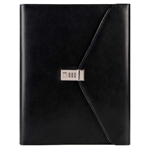 FGGS-Binder A4 File Folder with Lock Business Manager Password Briefcase File Cabinet Holder Manager Password Briefcase Bag