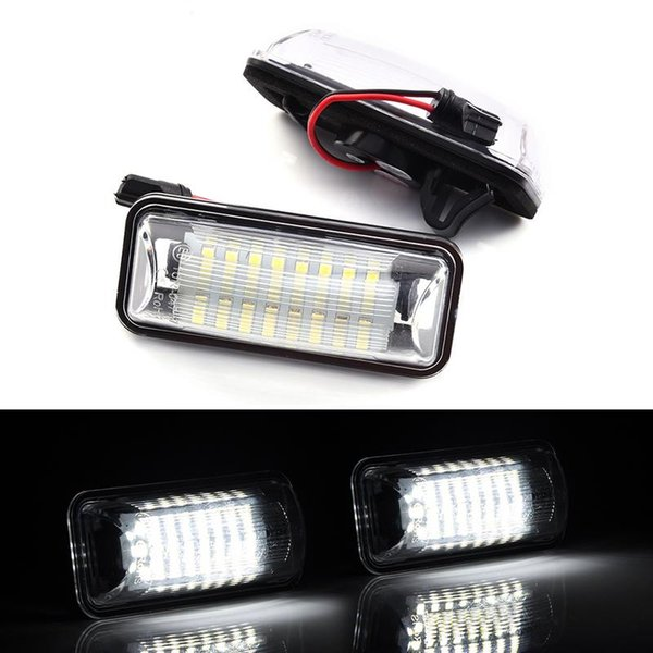2 PCS 24 LEDs CAR License Plate Lights 6500K Bright White DC12V For Toyota FT-86 Plug And Play Signal Light