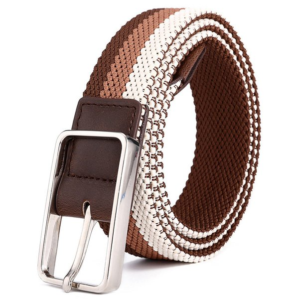 Luxury Elastic Woven Belts Europe Style Men's Jeans Breathable Waistbands Fashion Women's Belts Unisex Waist Straps Hip Hop Belts