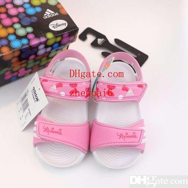 child girl black sandal 9 types child boy designer sandal shoes fashion purple kid sport slipper Eu 24-35