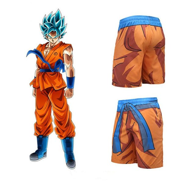Men Naruto Z Tank Beach Shorts Son Goku Vegeta Bodybuilding shorts Shirt Homme
