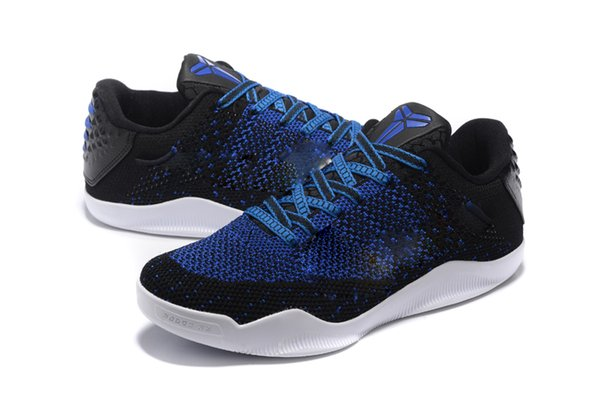 Professional Basketball Shoes Blue And White 11 Comfortable Network Weaving Shoes Breathable Light 4s With Origial Box