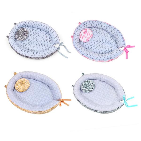 Ninho do bebê Lavável Berço Cama de Viagem Dos Desenhos Animados Lua Cama de Impressão Destacável Lavável Berço Berço De Algodão Portátil Para Recém-nascidos