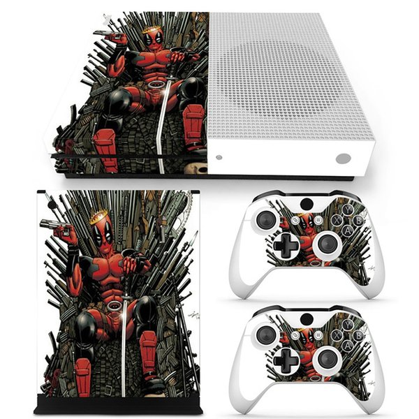Fanstore Skin Sticker Vinyl Decal Protector Wrap for Xbox One S Console and 2 Remote Controller Hot Sale Design