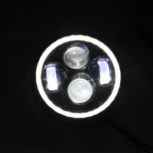 Motocicleta Negro 10W LED Linterna Proyector Cabeza Lámpara Hi / Lo Beam Bobber Chopper
