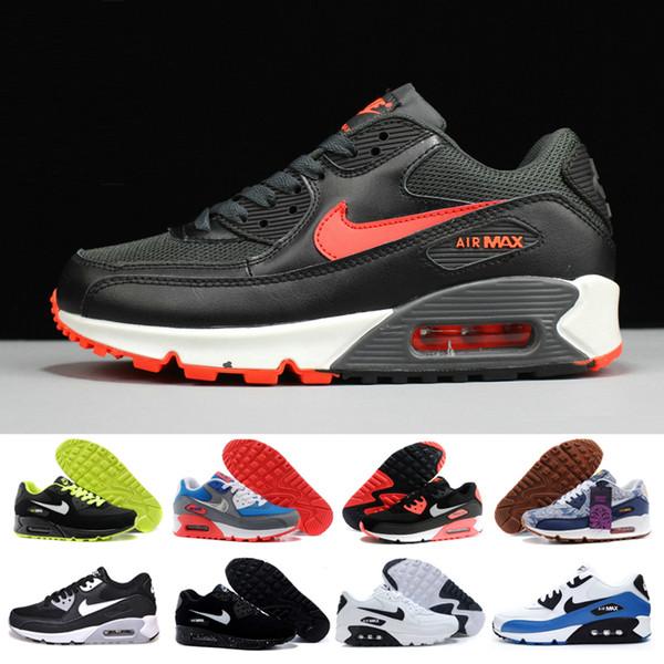 nike air max 90 airmax Hombres 90 Zapatos para correr Virgil Designer Copa del mundo Triple Blanco Negro Aire Rojo apagado Zapatillas de deporte de los años 90 para hombre