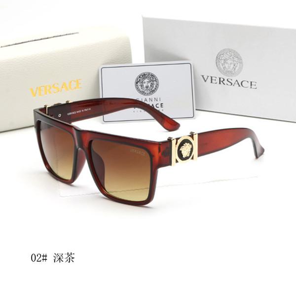 6002 Versace Hot Brand Sunglasses Vintage Pilot wayfarer Sun Glasses UV400 Mens Womens Men Women Ben Glass bain Lenses With original box 08
