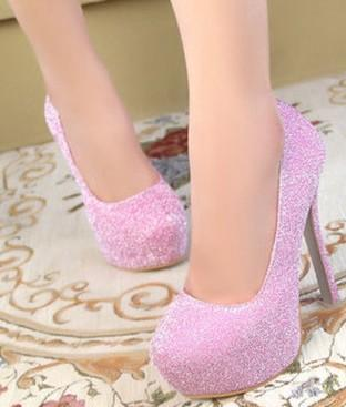 New Arrival Hot Sale Specials Super Fashion Influx Noble Sweety Princess Leather Nightclub Platform Sequins Single Party Heels Shoes EU34-39