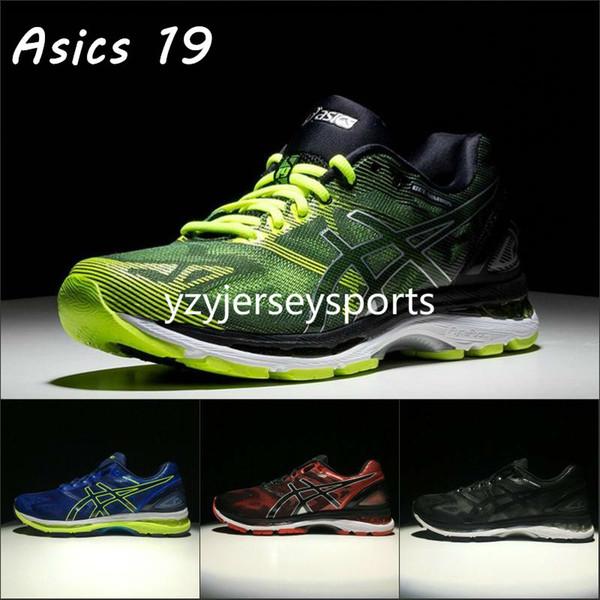 2019 Asics Gel Nimbus 19 T700N Para Hombre Zapatillas Negro Verde Azul Rojo Nuevo Diseñador Zapatos Hombres Mujeres Zapatillas De Deporte Eur 40 45