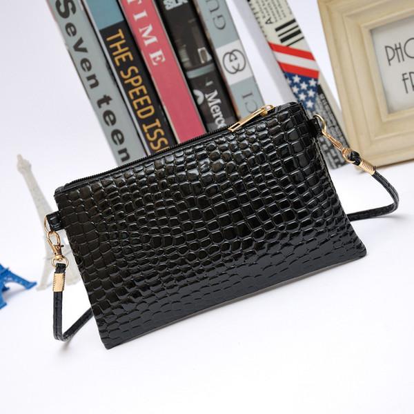 Cheap Women Bag Women Messenger Bags Patent Pu Leather Crocodile Crossbody Shoulder Bags For Women Small Clutch Bolsos Mujer KB-001