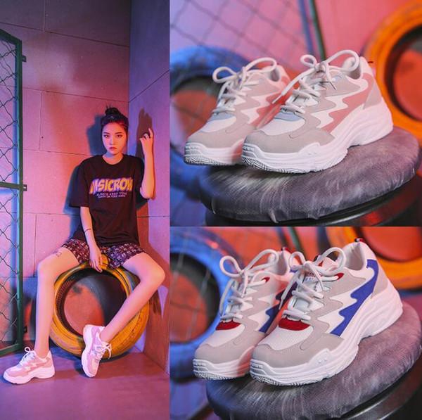 Kadın Tıknaz Sneakers Moda Nefes Kadın Platformu Ayakkabı Lace Up Kadın Eğitmenler Rahat Ayakkabılar Sıcak Satış Modelleri