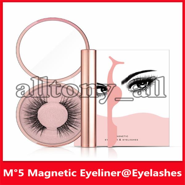 best selling Popular Magnetic Liquid Eyeliner & Magnetic False Eyelashes & Tweezer Set Magnet False Eyelashes Set Glue Make Up Tools 3 sets drop shipping
