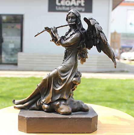 flûte musique série cuivre bronze sculpture artisanat comme Ameublement ornements cadeaux d'affaires décoration décoration