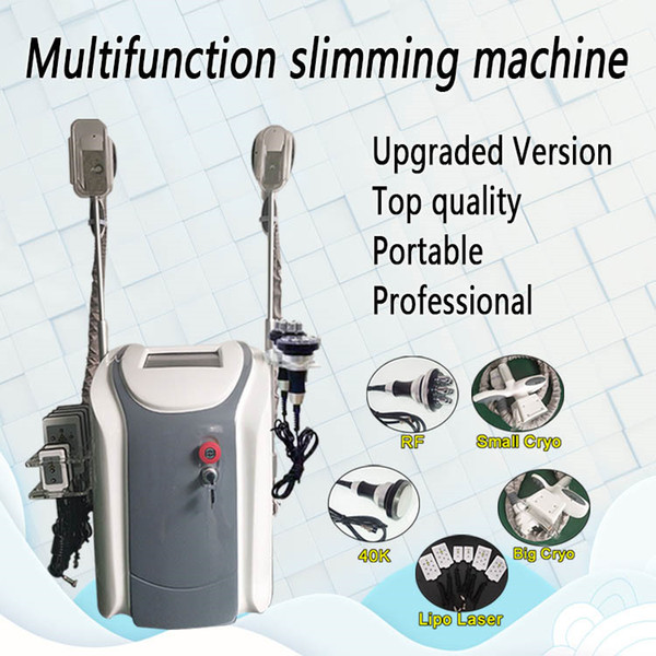 best selling Cryolipolysis lipo laser fat loss ultrasonic slimming machine 6 pads 650nm Lipo Laser Cavitation RF weight loss radio frequency