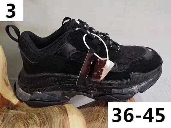 Green Triple S Sneakers Old Dad Shoes,Low Top Triple-S Buffed Leather and Mesh Sneakers for Women & Men Causal sport shoes m189601