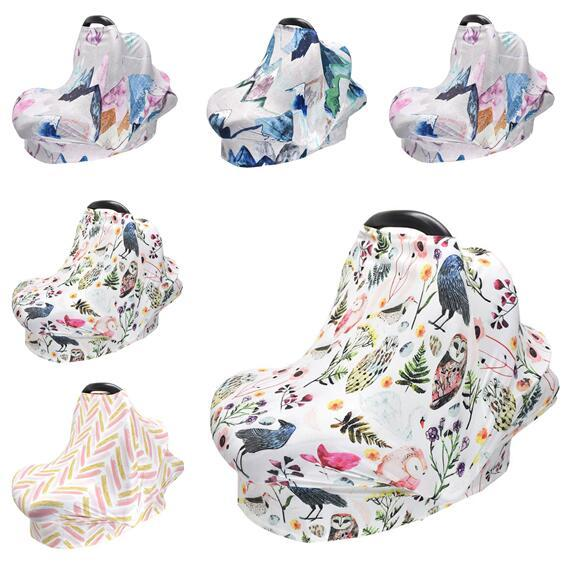 best selling Kids Owl Nursing Cover Breastfeeding Cover Multifunction Stretchy Baby Car Seat Cover Shopping Cart Grocery Trolley Covers Carseat Canopy