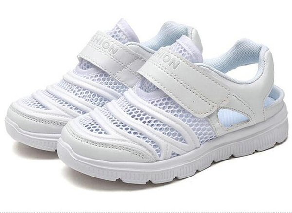top popular Jeff Sneaker kids All White Fashion Casual Shoes Comfortable Mesh Upper light weight 2019