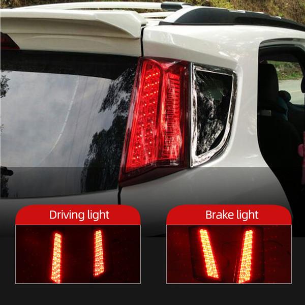 best selling 2PCS Reflector For Ford Ecosport 2013 2014 2015 2016 2017 2018 2019 LED rear bumper lights brake tail light Fog lamp
