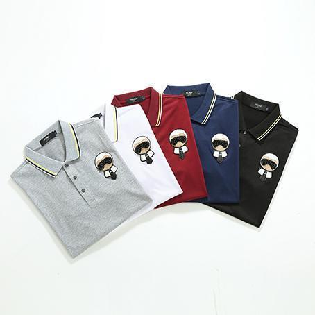 100% Fenii polo shirt 5 Цвет большой размер M--XXXL мужские летние рубашки Роскошные дизайнерские высококачественные фирменные рубашки модные роскошные печатные рубашки