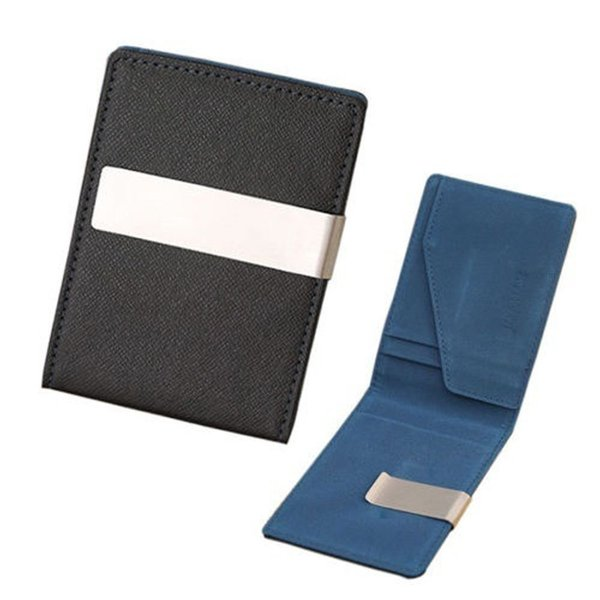Wallet Faux Leather Money Clip Stainless Steel Money Clip Holder Slim Wallets