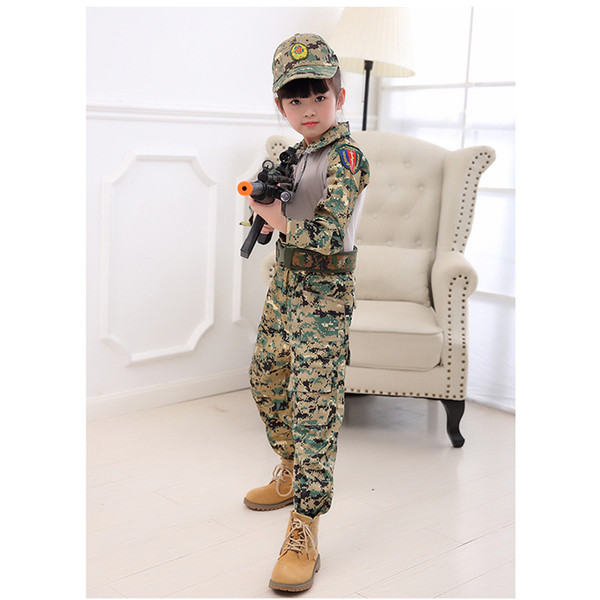 Children's camouflage clothing summer new wolf uniform school out of summer camp clothing kindergarten role-playing clothing large size clot