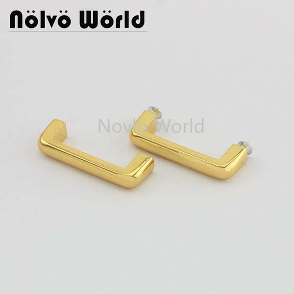 Wholesale 500pcs,4 colors accept mix color, metal bag strap arch bridge buckle with screw accessories for bags handbag belt part