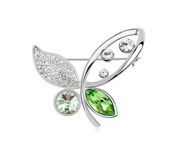 Livraison gratuite bijoux de mode Swarovski broche cristal élémentaire Yan Fei danse de papillon haut de gamme broche broche vêtements vente chaude
