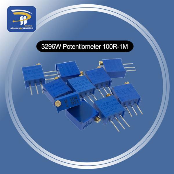10 PZ 3296 Potenziometro Kit Alta Precisione 3296 W Resistore Variabile 100R -1M 200R 500R 1k 2k 5K 10K 20K 50K 100K 200k 500k