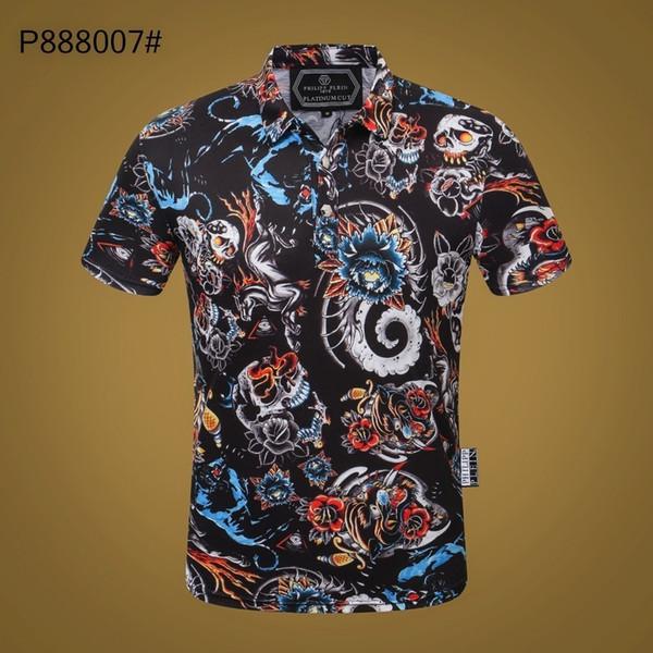 2019 новый высокое качество мужской хлопок высокого класса футболка 1878#