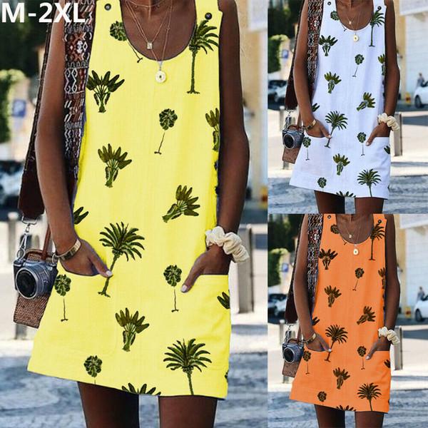 33f0b81cb4 Women Holiday Boho Floral Summer Party Evening Beach Short Mini Dress Tank  Tops Sundress Romper Dungaree