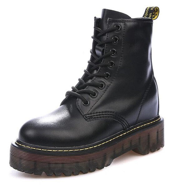 uk store differently size 40 Vintage Chunky Motorcycle Boots Female Warm Autumn Winter Shoes Height  Increasing Genuine Leather Women Boots Ladies Ankle Biker Boots Boots For  Men ...