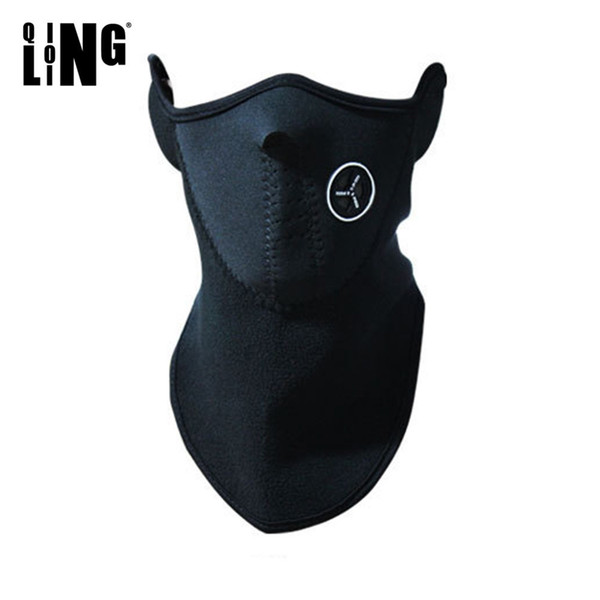 Winter Warm Fleece Balaclavas Ski Cycling Half Face Mask Cover Outdoor Sport Windproof Neck Guard Scarf Headwear Neoprene Masks