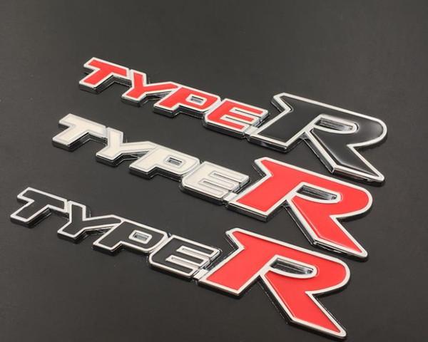 Car -Styling 3D Metal Alloy Type R Typer Sticker For Honda City CR-V XR-V HR-V Accord FIT Jazz Stream Crider Greiz CIVIC Spirior