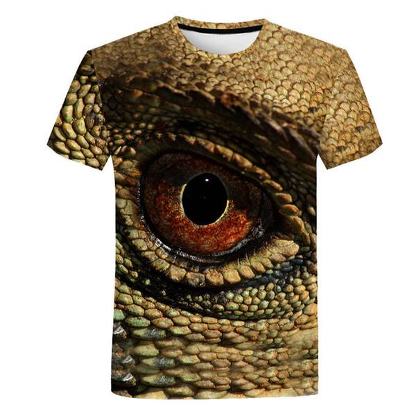 Tiger T Shirt Animal 3d T-shirt Punk Print Shirts Gothic Plus Size Mens Clothing Funny Tshirt Men Short Sleeve Big Slim