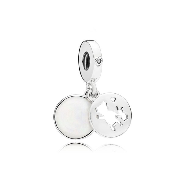 NEW 100% 925 Sterling Silver 1:1 797035EN23 PERFECT PALS HANGING CHARM Original Women Wedding Fashion Jewelry