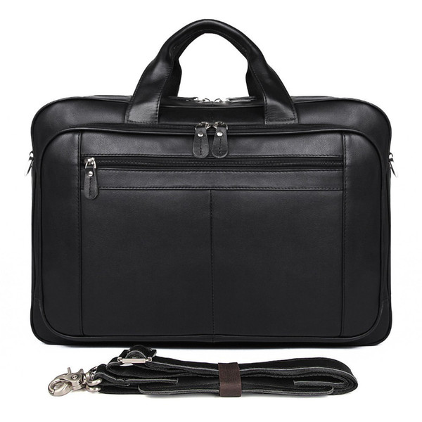 Designer Brand Business Men Portfolio Top Genuine Leather Laptop Briefcase Fashion Shoulder Messenger Bags Travel Bag For Man