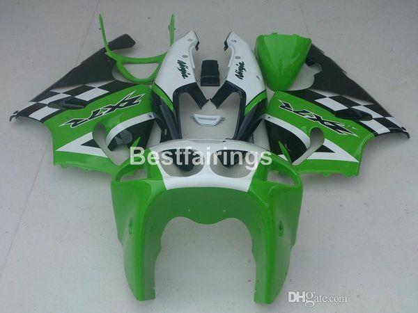 Aftermarket body parts fairing kit for Kawasaki Ninja ZX7R 96 97 98 99 00-03 green white black fairings kits ZX7R 1996-2003 TY47