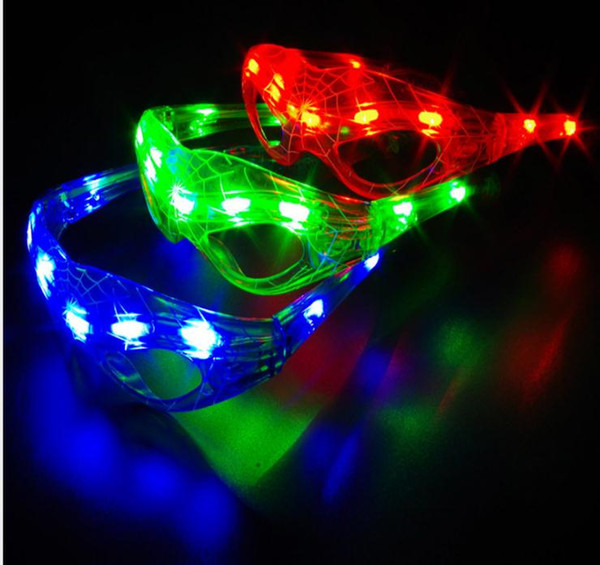LED Spiderman blinkende Gläser Party Dance Cheer Maske glühendes Licht Weihnachten Halloween Cosplay Glas Geschenk dc573