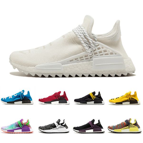 Acheter 2019 Adidas Human Race Inspiration Solar Pack NMD Human Race Trail Running Shoes Men Women Pharrell Williams HU Heart Mind Equality Nerd