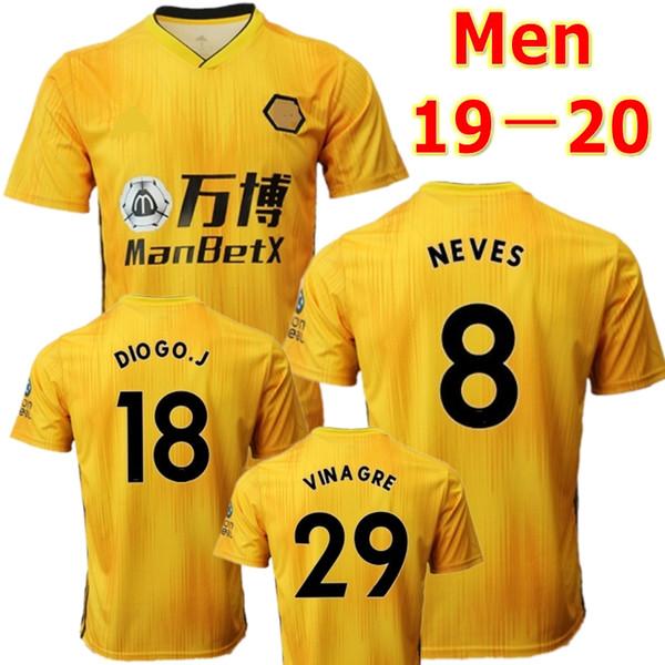 19 20 Wolves soccer jersey Wolverhampt CUTRONE RAUL NEVES 2019 2020 Wolverhampton Wanderers football shirt DIOGO J. uniforms men + kids